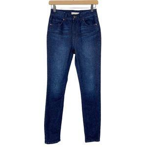 Harper Heritage High Rise Skinny Jeans Dark Wash